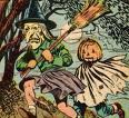 old time Halloween illustration