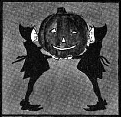 brownies with jack-o-lantern